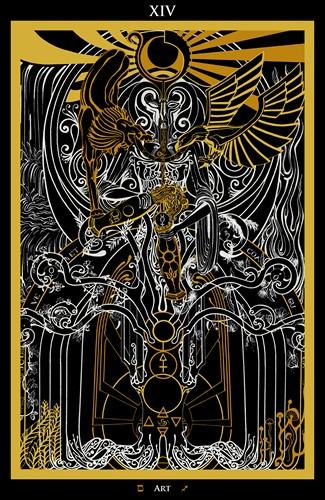 XIV - Art / Alchemy Tarot - Ina Auderieth