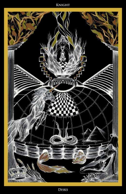 Knight of Disks Tarot - Ina Auderieth