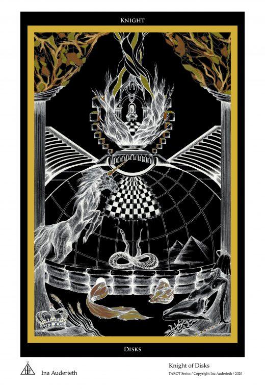 Knight of Disks / Ritter der Scheiben Tarot