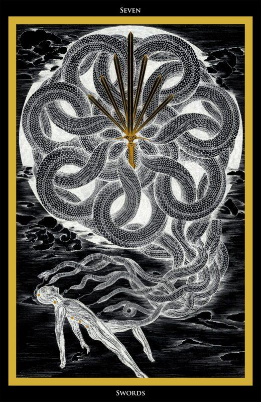 Seven of Swords / Sieben der Schwerter Tarot