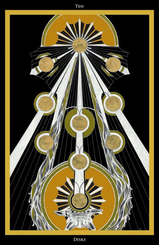 Ten of Disks / Zehn der Scheiben Tarot