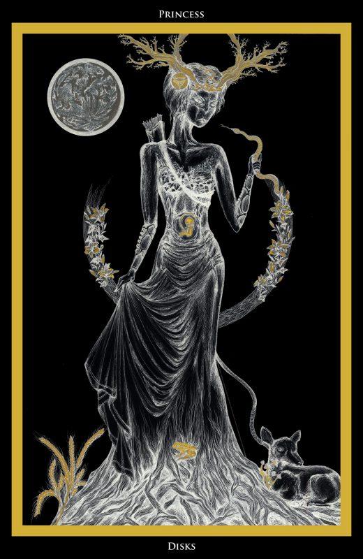 Princess of Disks / Prinzessin der Scheiben Tarot